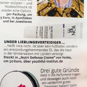 YonKa Nutri Defense Glamour Deutschland November 2015